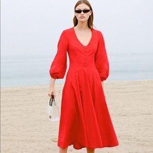 NWT Staud Veronica Dress 🍒